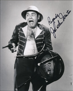 JONATHAN WINTERS - AUTOGRAPHED SIGNED PHOTOGRAPH