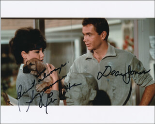 THE UGLY DACHSHUND MOVIE CAST - AUTOGRAPHED SIGNED PHOTOGRAPH CO-SIGNED BY: SUZANNE PLESHETTE, DEAN JONES