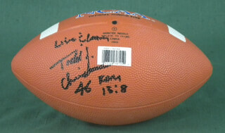 TODD J. CHRISTENSEN - FOOTBALL SIGNED