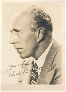 CHARLES BUTTERWORTH - AUTOGRAPHED SIGNED PHOTOGRAPH