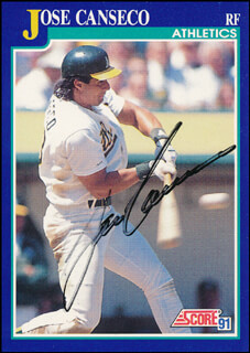 JOSE CANSECO - TRADING/SPORTS CARD SIGNED