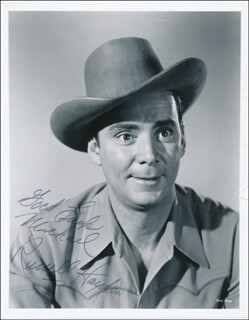 RUSSELL HAYDEN - AUTOGRAPHED INSCRIBED PHOTOGRAPH