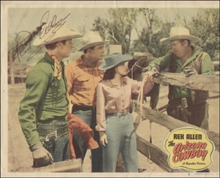 REX ALLEN - LOBBY CARD SIGNED
