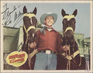 Autographs: REX ALLEN - INSCRIBED LOBBY CARD SIGNED