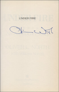 LT. COLONEL OLIVER L. NORTH - BOOK SIGNED