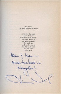 LT. COLONEL OLIVER L. NORTH - INSCRIBED BOOK SIGNED