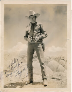 TEX RITTER - AUTOGRAPHED INSCRIBED PHOTOGRAPH