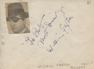 Autographs: WILLIAM GAXTON - AUTOGRAPH NOTE SIGNED