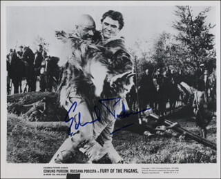 EDWARD PURDOM - AUTOGRAPHED SIGNED PHOTOGRAPH