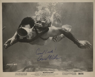 CORNEL WILDE - AUTOGRAPHED SIGNED PHOTOGRAPH