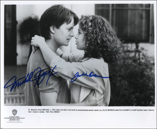 DOC HOLLYWOOD MOVIE CAST - AUTOGRAPHED SIGNED PHOTOGRAPH CO-SIGNED BY: MICHAEL J. FOX, JULIE WARNER