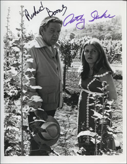 DEADLY HARVEST MOVIE CAST - AUTOGRAPHED SIGNED PHOTOGRAPH CO-SIGNED BY: RICHARD BOONE, PATTY DUKE
