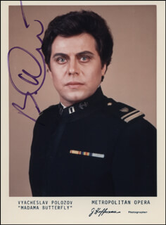 VYACHESLAV POLOZOV - AUTOGRAPHED SIGNED PHOTOGRAPH