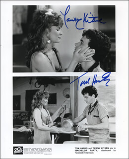 BACHELOR PARTY MOVIE CAST - AUTOGRAPHED SIGNED PHOTOGRAPH CO-SIGNED BY: TOM HANKS, TAWNY KITAEN