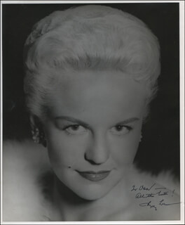 PEGGY LEE - AUTOGRAPHED INSCRIBED PHOTOGRAPH