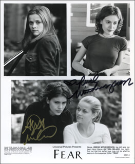 FEAR MOVIE CAST - AUTOGRAPHED SIGNED PHOTOGRAPH CO-SIGNED BY: ALYSSA MILANO, REESE WITHERSPOON