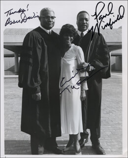KING MOVIE CAST - AUTOGRAPHED SIGNED PHOTOGRAPH CO-SIGNED BY: CICELY TYSON, PAUL WINFIELD, OSSIE DAVIS