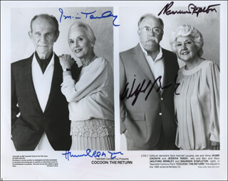 COCOON: THE RETURN MOVIE CAST - AUTOGRAPHED SIGNED PHOTOGRAPH CO-SIGNED BY: WILFORD BRIMLEY, HUME CRONYN, JESSICA TANDY, MAUREEN STAPLETON