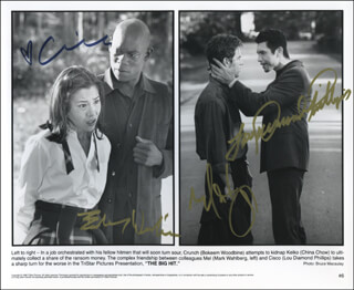 THE BIG HIT MOVIE CAST - AUTOGRAPHED SIGNED PHOTOGRAPH CO-SIGNED BY: LOU DIAMOND PHILLIPS, MARK WAHLBERG, CHINA CHOW, BOKEEM WOODBINE