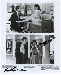 WORTH WINNING MOVIE CAST - AUTOGRAPHED SIGNED PHOTOGRAPH CO-SIGNED BY: LESLEY ANN WARREN, MARK HARMON