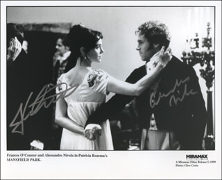 MANSFIELD PARK MOVIE CAST - AUTOGRAPHED SIGNED PHOTOGRAPH CO-SIGNED BY: ALESSANDRO NIVOLA, FRANCES O'CONNOR
