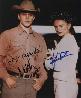 Autographs: ALL THE PRETTY HORSES MOVIE CAST - PHOTOGRAPH SIGNED CO-SIGNED BY: MATT DAMON, PENELOPE CRUZ