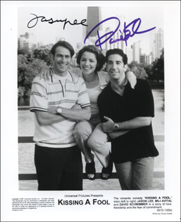 KISSING A FOOL MOVIE CAST - AUTOGRAPHED SIGNED PHOTOGRAPH CO-SIGNED BY: JASON LEE, DAVID SCHWIMMER