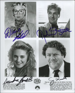 PLAIN CLOTHES MOVIE CAST - AUTOGRAPHED SIGNED PHOTOGRAPH CO-SIGNED BY: ROBERT STACK, DIANE LADD, GEORGE WENDT, ALEXANDRA POWERS