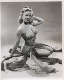 GALE SHERWOOD - AUTOGRAPHED INSCRIBED PHOTOGRAPH
