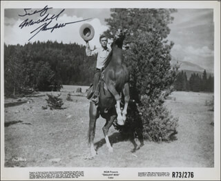 MARSHALL THOMPSON - AUTOGRAPHED SIGNED PHOTOGRAPH