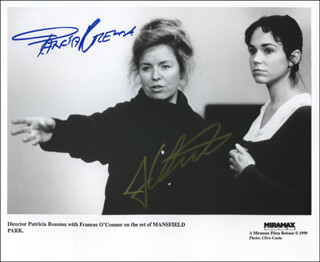 MANSFIELD PARK MOVIE CAST - AUTOGRAPHED SIGNED PHOTOGRAPH CO-SIGNED BY: FRANCES O'CONNOR, PATRICIA ROZEMA