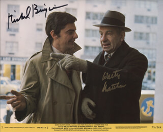 THE SUNSHINE BOYS MOVIE CAST - PRINTED PHOTOGRAPH SIGNED IN INK CO-SIGNED BY: WALTER MATTHAU, RICHARD BENJAMIN