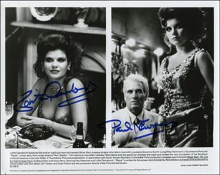 Autographs: BLAZE MOVIE CAST - PHOTOGRAPH SIGNED CO-SIGNED BY: PAUL NEWMAN, LOLITA DAVIDOVICH