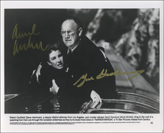 NARROW MARGIN MOVIE CAST - PRINTED PHOTOGRAPH SIGNED IN INK CO-SIGNED BY: GENE HACKMAN, ANNE ARCHER