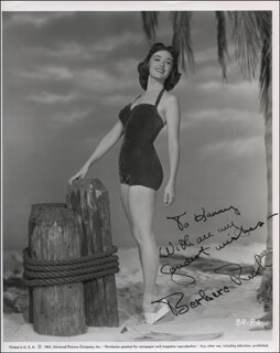 BARBARA RUSH - AUTOGRAPHED INSCRIBED PHOTOGRAPH