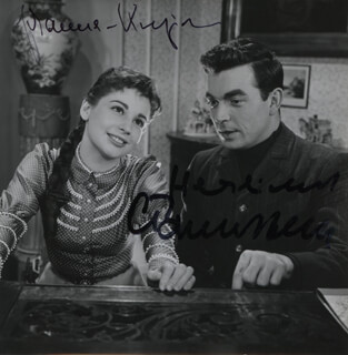 PETERSBURG NIGHTS MOVIE CAST - AUTOGRAPHED SIGNED PHOTOGRAPH CO-SIGNED BY: JOHANNA VON KOCZIAN, CLAUS BIEDERSTAEDT