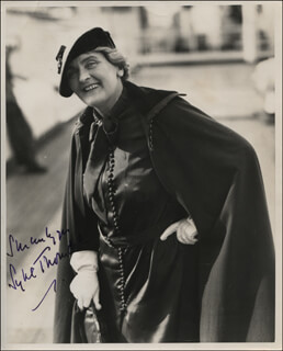 DAME SYBIL THORNDIKE - AUTOGRAPHED SIGNED PHOTOGRAPH