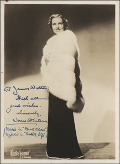 JOAN WINTERS - AUTOGRAPHED INSCRIBED PHOTOGRAPH