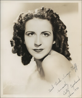 DOLLY COPELAND - AUTOGRAPHED INSCRIBED PHOTOGRAPH 12/1943