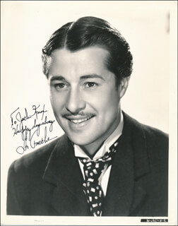 DON AMECHE - AUTOGRAPHED INSCRIBED PHOTOGRAPH  - HFSID 322698