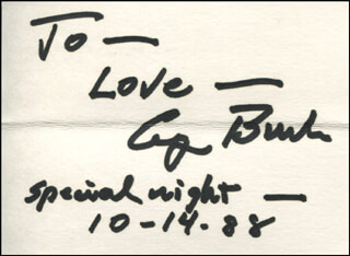 PRESIDENT GEORGE H.W. BUSH - AUTOGRAPH NOTE SIGNED 10/14/1988