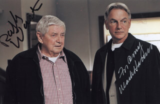 NCIS TV CAST - AUTOGRAPHED INSCRIBED PHOTOGRAPH CO-SIGNED BY: RALPH WAITE, MARK HARMON