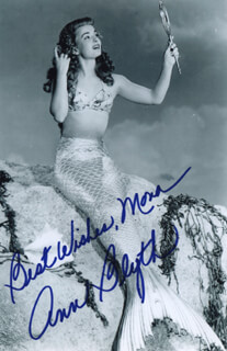ANN BLYTH - AUTOGRAPHED INSCRIBED PHOTOGRAPH