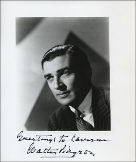 WALTER PIDGEON - AUTOGRAPHED INSCRIBED PHOTOGRAPH
