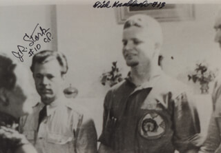 CAPTAIN J. ROYDEN STORK - AUTOGRAPHED SIGNED PHOTOGRAPH CO-SIGNED BY: BRIGADIER GENERAL RICHARD KNOBLOCH