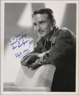 LEW AYRES - AUTOGRAPHED INSCRIBED PHOTOGRAPH 1983