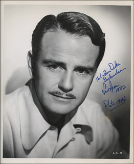 LEW AYRES - AUTOGRAPHED INSCRIBED PHOTOGRAPH 1982