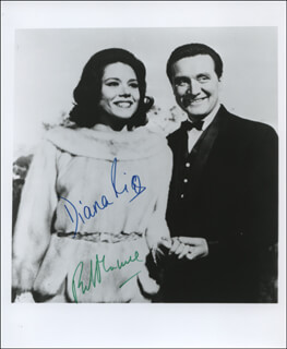 THE AVENGERS TV CAST - AUTOGRAPHED SIGNED PHOTOGRAPH CO-SIGNED BY: PATRICK MACNEE, DIANA RIGG