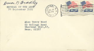 GENERAL OMAR N. BRADLEY - ENVELOPE SIGNED CIRCA 1963
