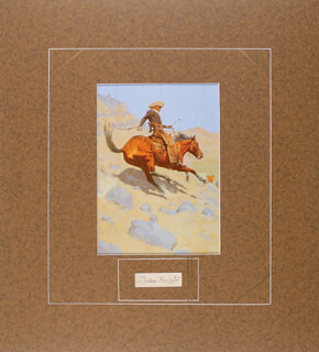FREDERIC REMINGTON - AUTOGRAPH